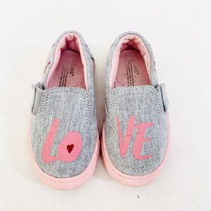 TOMS Drizzle Grey Love Tiny Toms Luca Slip Ons